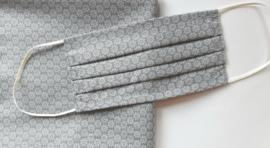 Mondkapje bloemmotief - grijs