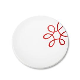 Dessertbord Pur Geflammt rood - 20 cm