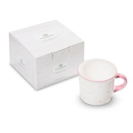 Koffiebeker hartjes roze cadeauverpakking - 0,24l