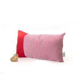 Zirben kussen met Alpenruit - rood 36 x 20 cm