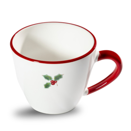 Koffiekopje Winterbes robijnrood- 0,2 l