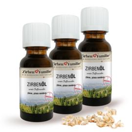 ZirbenOlie - set van 3 stuks - 20 ml