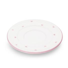 Schoteltje espressokopje Hartjes roze  - 11 cm