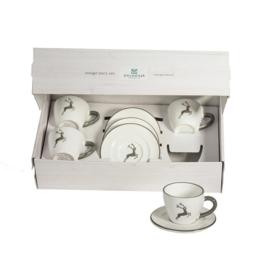 Espresso voor vrienden set - Hert grijs cadeauverpakking