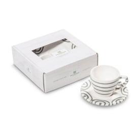 Espresso set 2-delig - Geflammt grijs cadeauverpakking