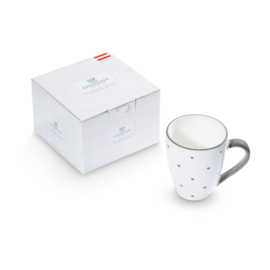 Koffiebeker Max Hartjes grijs - 0,3 l cadeauverpakking