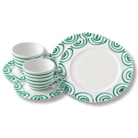 Ontbijt voor twee set - Geflammt groen cadeauverpakking