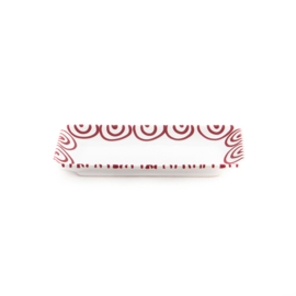 Snackschaal Geflammt rood - 22 x 11 cm