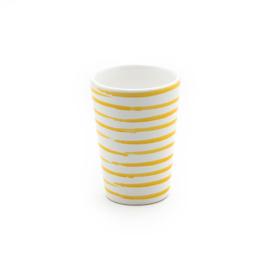Beker Geflammt geel - 11 cm