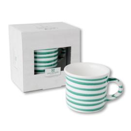Koffiebeker Geflammt groen cadeauverpakking - 0,24 l