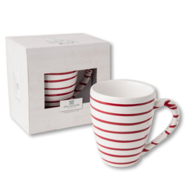 Koffiebeker Max  - Geflammt rood cadeauverpakking