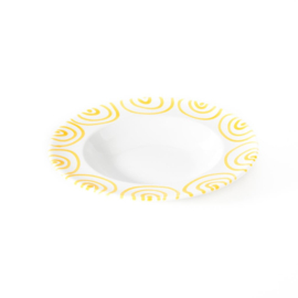 Soepbord Geflammt geel - 24 cm
