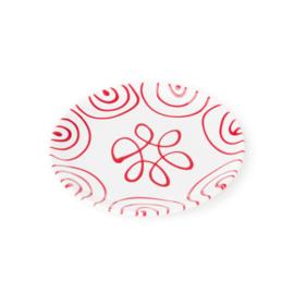 Dessertbord Geflammt rood - 20 cm