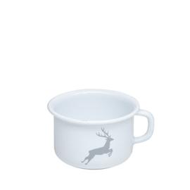 Koffiebeker email hert grijs - 0,4 liter