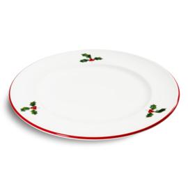Dessertbord Winterbes robijnrood  - 22 cm