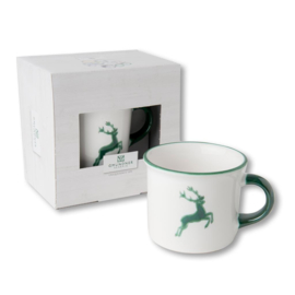 Koffiebeker - Hert groen cadeauverpakking