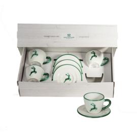 Espresso voor vrienden set - Hert groen cadeauverpakking