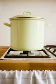 Hoge pan licht groen - 6 liter