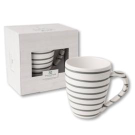 Koffiebeker Max - Geflammt grijs cadeauverpakking