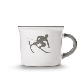 Koffiebeker Toni der Skifahrer grijs - 0,24 l