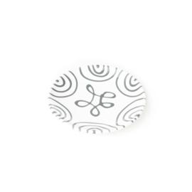 Schoteltje mokkakopje Geflammt  grijs - 11 cm