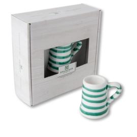 Mini pul - Geflammt groen cadeauverpakking