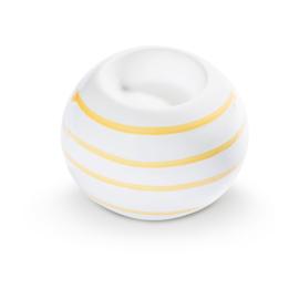 Waxinehouder Geflammt geel - 10 cm