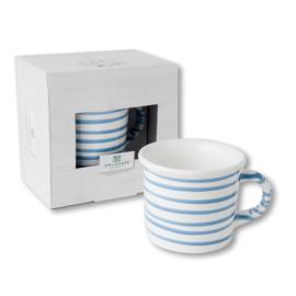 Koffiebeker - Geflammt blauw cadeuaverpakkig