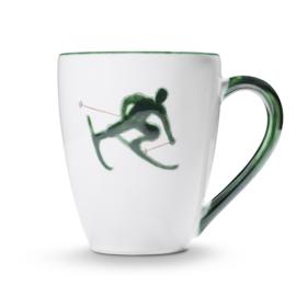 Koffiebeker Max Toni der Skifahrer groen - 0,3 l