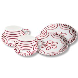 Ontbijt voor twee set- Geflammt rood cadeauverpakking