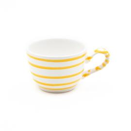Koffiekopje Geflammt geel - 0,19 l