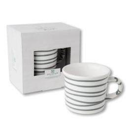 Koffiebeker - Geflammt grijs cadeauverpakking