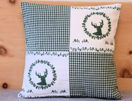 Kussenhoes Gerry hert - groen | 40 x 40 cm
