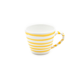 Koffiekopje Geflammt geel - 0,2 l