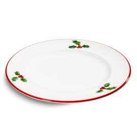 Dinerbord Winterbes robijnrood - 27 cm