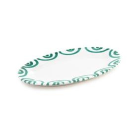 Serveerschaal ovaal Geflammt groen - 21 x 14 cm