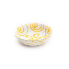 Mueslischaal klein Geflammt geel - 14 cm