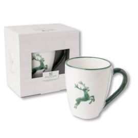 Koffiebeker Max  - Hert groen cadeauverpakking