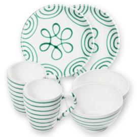 Berghut ontbijt set voor 2 - Geflammt groen