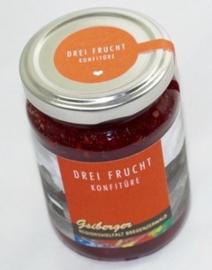 Drie vruchten marmelade uit het Bregenzerwald - 230 gram