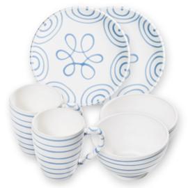 Berghut ontbijt set voor 2 - Geflammt blauw