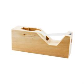 Plakbandrolhouder van Zirben hout