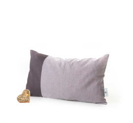 Zirben kussen met Alpenruit - grijs 36 x 20 cm