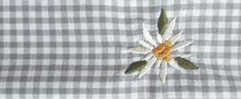 Mondkapje Edelweiss - licht grijs geruit