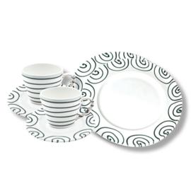 Ontbijt voor twee set - Geflammt grijs cadeauverpakking