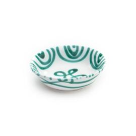 Mueslischaal klein Geflammt groen  - 14 cm
