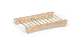 Zeepschaaltje van berkenhout - model harp