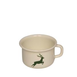 Koffiebeker email hert groen - 0,4 liter