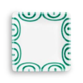 Snackschaal vierkant Geflammt groen - 11 x 11 cm