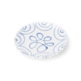 Dessertbord Geflammt blauw - 20 cm